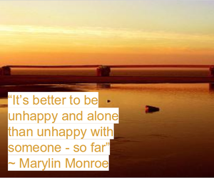 marylin monroe, quotes, and sunset image