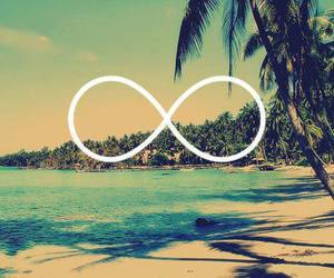 beach, summer, and infinity image