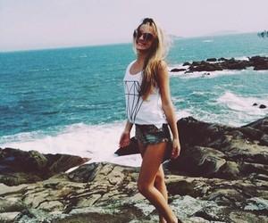 beach, beautiful, and blond image