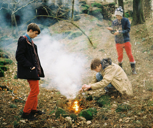 boy, fire, and indie image