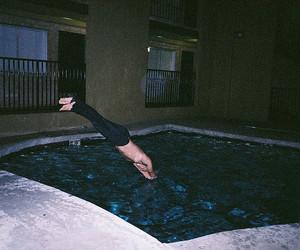 boy, pool, and grunge image