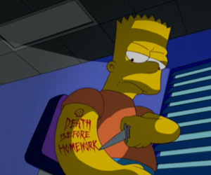 death and the simpsons image