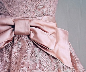pink, dress, and bow image