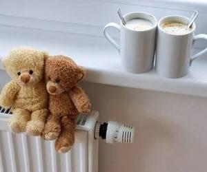 coffee and teddy bear image