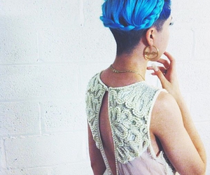 beauty, blue hair, and lace image