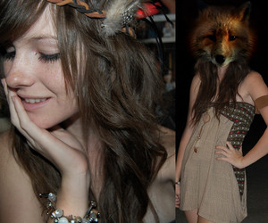 beauty, girl, and fox image