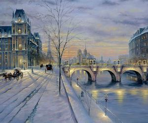 winter, paris, and romantic image