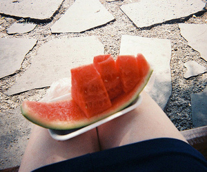 watermelon and vintage image