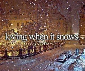 loving, snow, and text image