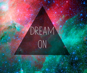 Dream, galaxy, and quotes image