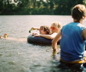 friends, water, and fun image
