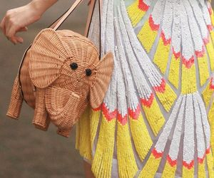 elephant, bag, and dress image