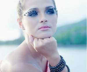 girl, gorgeous, and lashes image