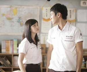 asian, school, and couple image