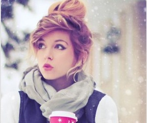 winter, starbucks, and snow image