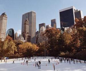 new york, winter, and christmas image