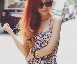hair, red hair, and girl image