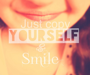 by, smiling, and me image