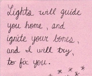 coldplay, fix you, and pink image