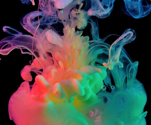 colors, smoke, and colorful image