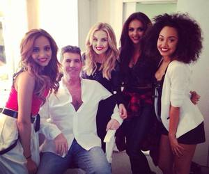 little mix, simon cowell, and perrie edwards image