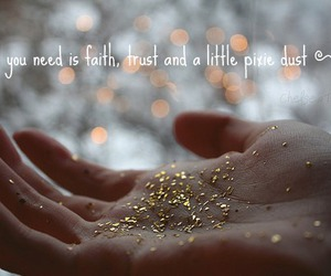 faith, glitter, and peter pan image