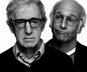 woody allen and larry david image