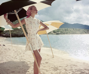 beach, vintage, and vogue image