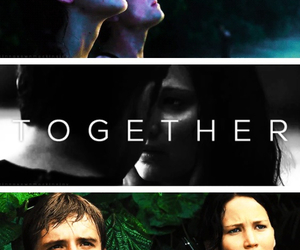 the hunger games, together, and catching fire image