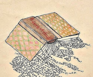 book, words, and art image