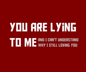 I Love You, lies, and red image