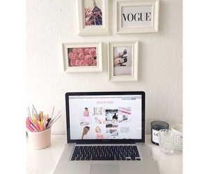vogue, room, and girly image