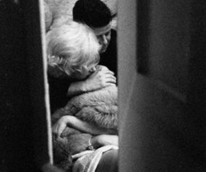 Marilyn Monroe, JFK, and black and white image