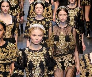 fashion, model, and Dolce & Gabbana image