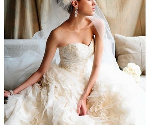 wedding dress, clothes, and dress image