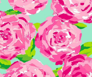 wallpaper, pink, and flowers image