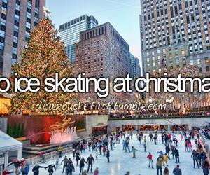 christmas, ice, and ice skating image