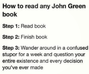 books, reading, and john green image