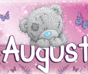 August, pink, and tatty teddy image