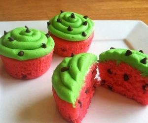 cupcake, watermelon, and food image