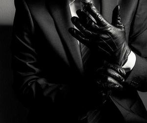 gloves, man, and black image