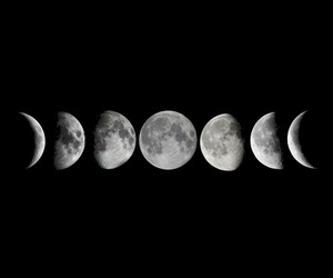 background, moon, and overlay image
