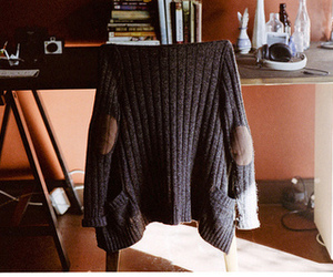 sweater, home, and vintage image