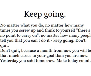 quote, keep going, and stay strong image