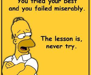 hilarious, quote, and homer simpson image