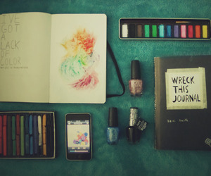art, wreck this journal, and journal image