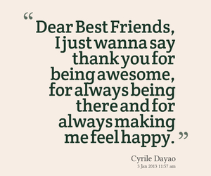 quote, happy, and best friends image