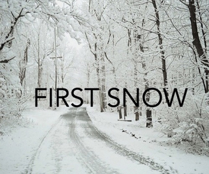 snow, first, and winter image