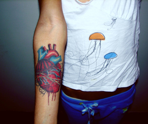 heart, tatto, and tattoo image