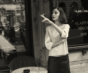 cafe, girl, and model image